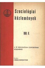Szociológiai közlemények 1969 II - Régikönyvek