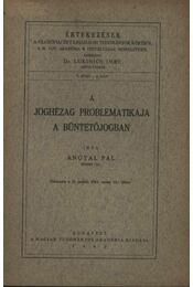 A joghézag problématikája a büntetőjogban - Régikönyvek