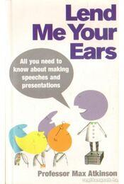 Lend me your ears (angol-nyelvű) - Régikönyvek