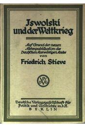 Iswolski und der Weltkrieg - Régikönyvek
