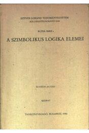 A szimbolikus logika elemei - Régikönyvek