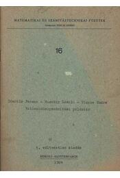 Valószínűségszámítási példatár - Régikönyvek