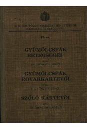Gyümölcsfák betegségei - Gyümölcsfák rovarkártevői - Szőlő kártevői - Régikönyvek
