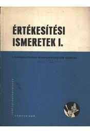 Értékesítési ismeretek I - Régikönyvek