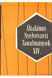 Általános nyelvészeti tanulmányok XIV. - Régikönyvek