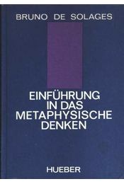 Einführung in das Metaphysische Denken - Régikönyvek