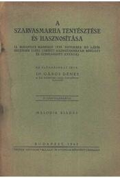 A szarvasmarha tenyésztése és hasznosítása - Régikönyvek