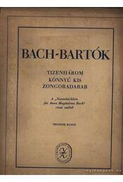 Bach-Bartók - Régikönyvek