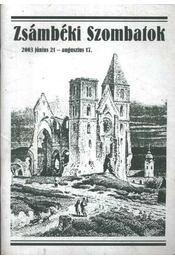 Zsámbéki Szombatok 2003 - Régikönyvek
