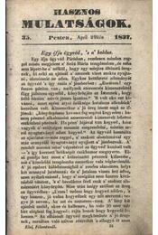 Hasznos mulatságok 1837/35. szám - Régikönyvek