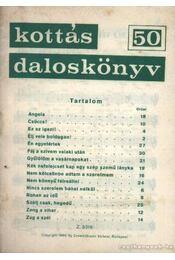 Kottás daloskönyv 50. - Régikönyvek