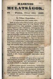 Hasznos mulatságok 1837/16. szám - Régikönyvek