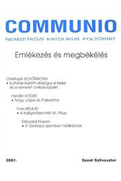 Communio 2001. Szent Szilveszter - Régikönyvek