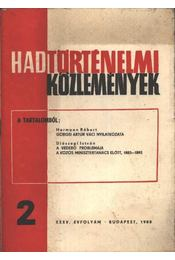 Hadtörténelmi közlemények - Régikönyvek