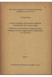 A német irodalom áttenkintése kezdetektől a XV. század végéig - Régikönyvek