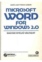 Microsoft Word for Windows 2.0 - Régikönyvek