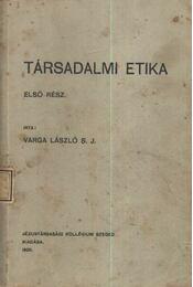Társadalmi etika - Régikönyvek