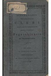 Schemetismus Venehabilis Cleri Graeci Ritus Catholicorum Dioeceseos Fogarasinesis In-Transilvania - Régikönyvek