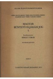 Magyar büntető eljárásjog I-II. kötet - Régikönyvek