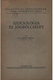 Szociológia és jogbölcselet - Régikönyvek