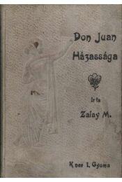 Don Juan házassága - Régikönyvek