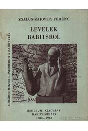 Levelek Babitsról - Régikönyvek
