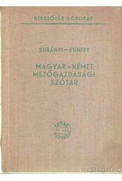 Magyar-német mezőgazdasági szótár - Régikönyvek