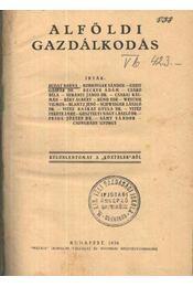 Alföldi gazdálkodás - Régikönyvek