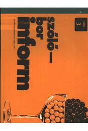 Szőlő-bor inform 1988/3. - Régikönyvek