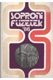 Soproni Füzetek '86 - Régikönyvek