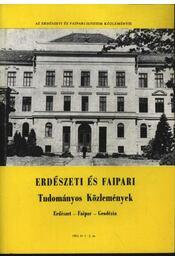 Erdészeti és faipari Tudományos közlemények 1985. év 1-2. sz. - Régikönyvek
