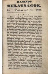 Hasznos mulatságok 1837./31. szám - Régikönyvek