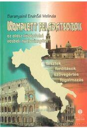 Komplett feladatsorok az olasz középfokú írásbeli nyelvvizsgára - Régikönyvek