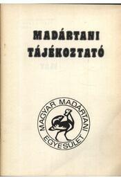 Madártani tájékoztató 1986. október-december - Régikönyvek