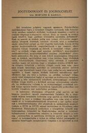 Jogtudomány és jogbölcselet - Régikönyvek