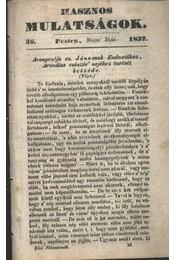 Hasznos mulatságok 1837/36. szám - Régikönyvek