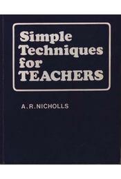 Simple Techniques for teachers - Régikönyvek