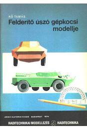 Felderítő úszó gépkocsi modellje - Régikönyvek