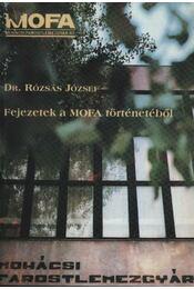 Fejezetek a MOFA történetéből - Régikönyvek