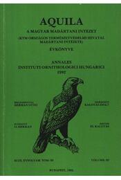 Aquila évkönyv 1992. XCIX. évfolyam 99. sz. - Régikönyvek