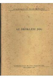 Az öröklési jog - Régikönyvek