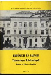 Erdészeti és faipari Tudományos közlemények 1989. év 1. sz. - Régikönyvek