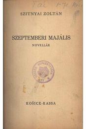 Szeptemberi majális - Régikönyvek