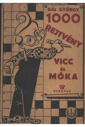 1000 rejtvény, vicc és móka - Régikönyvek