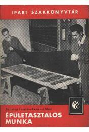 Épületasztalos munka - Régikönyvek