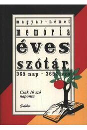 Magyar-német memória éves szótár - Régikönyvek