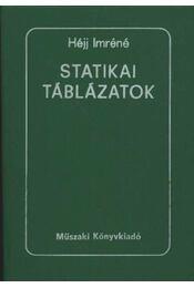 Statikai táblázatok - Régikönyvek