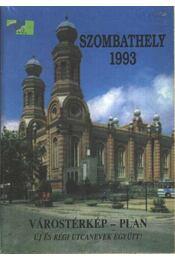 Szombathely 1993 Várostérkép - Régikönyvek