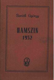 Hamszin 1952 (dedikált) - Régikönyvek