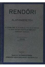 Rendőri alapismeretek - Régikönyvek